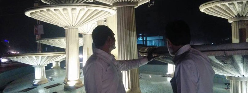 Site visit of fountain near Sindh assembly