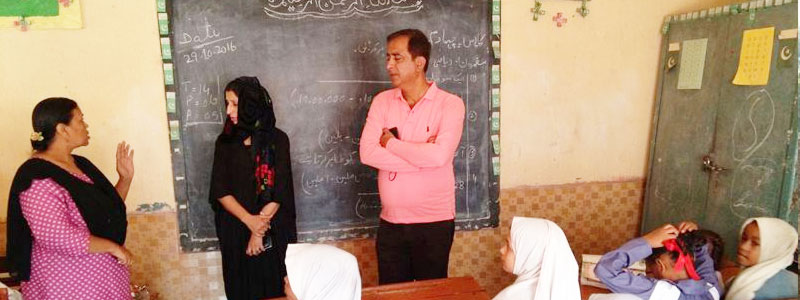 Mehmood Hashim Habib Hasan ADEO DMC South Lyari zone Asma Ayaz visit DMC South school No 9 10 11