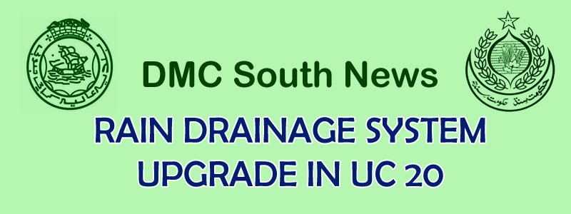 RAIN DRAINAGE SYSTEM UPGRADE IN UC 20